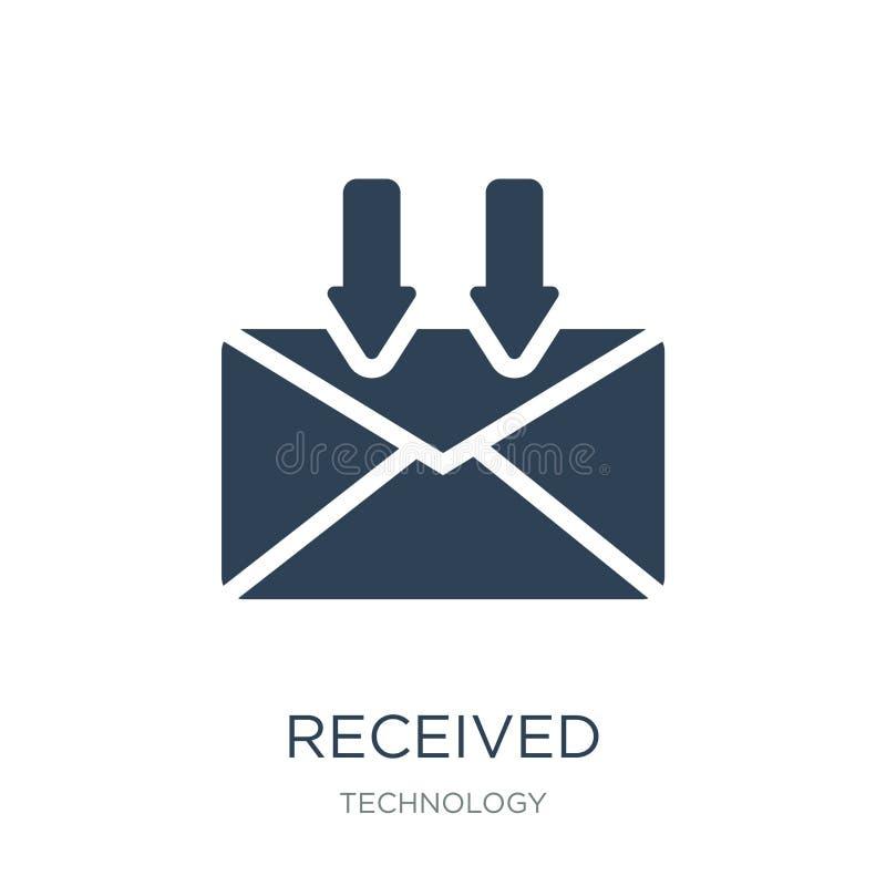 icono recibido en estilo de moda del diseño icono recibido aislado en el fondo blanco plano simple y moderno del icono recibido d libre illustration