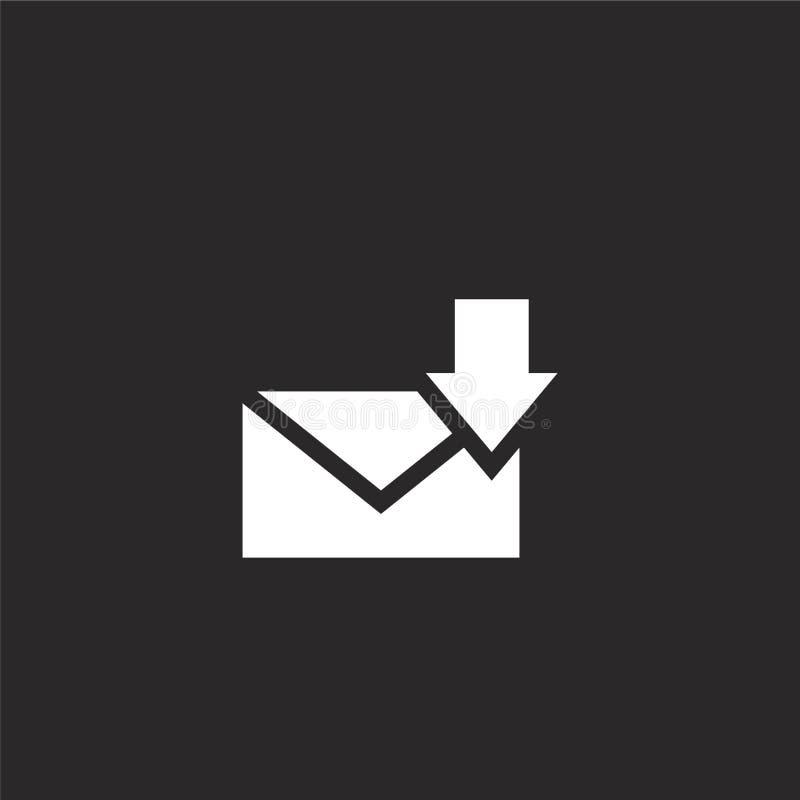 icono recibido Filled recibió el icono para el diseño y el móvil, desarrollo de la página web del app icono recibido de la colecc libre illustration