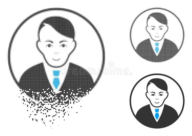 Icono redondeado tono medio punteado fracturado del caballero con la cara libre illustration