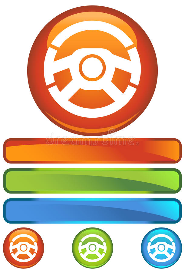 Icono redondo anaranjado - rueda libre illustration
