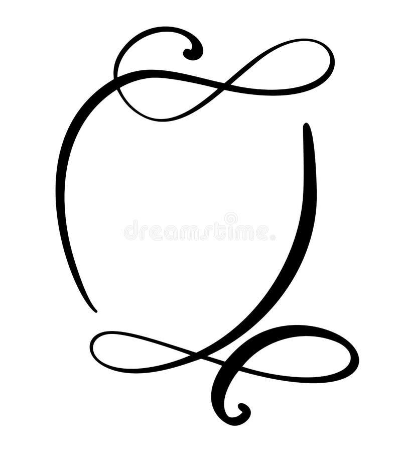 Icono redondo de la burbuja del discurso de la cita de la caligrafía Marco de texto de la mano o plantilla exhausto de la caja Il ilustración del vector