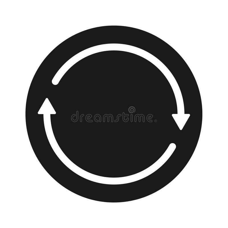 Icono redondo de la flecha negra sólida de la transferencia stock de ilustración
