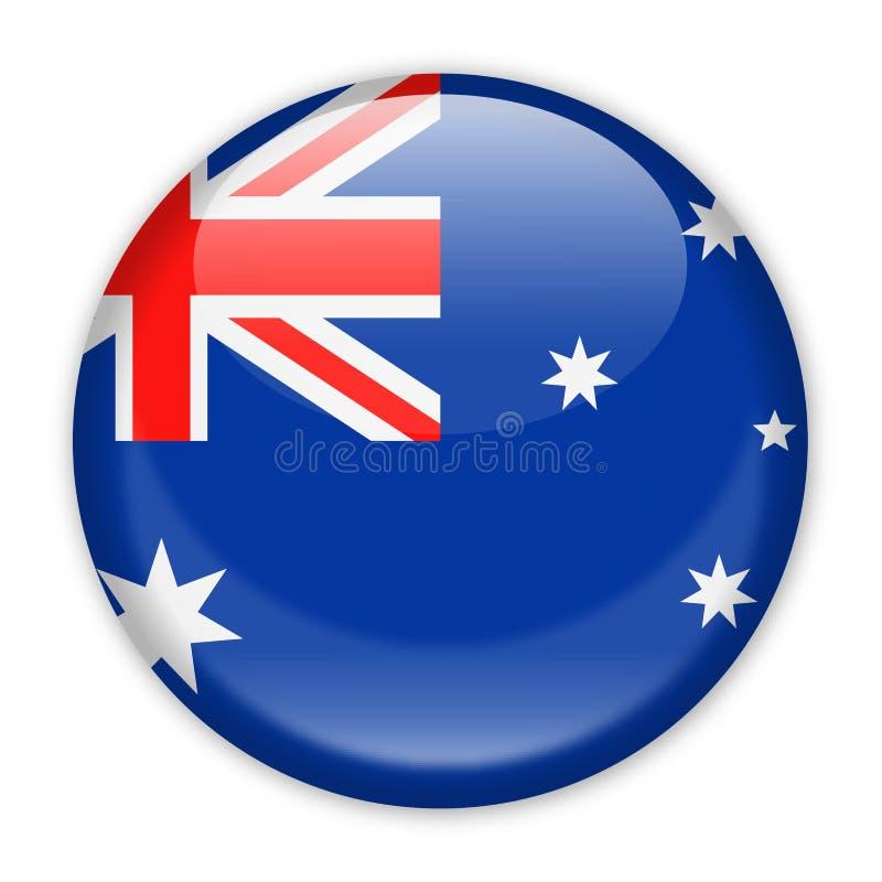 Icono redondo del vector de la bandera de Australia stock de ilustración
