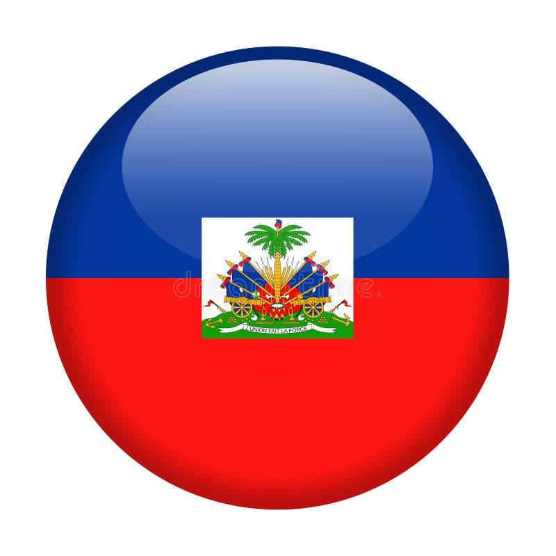 Icono redondo del vector de la bandera de Haití stock de ilustración