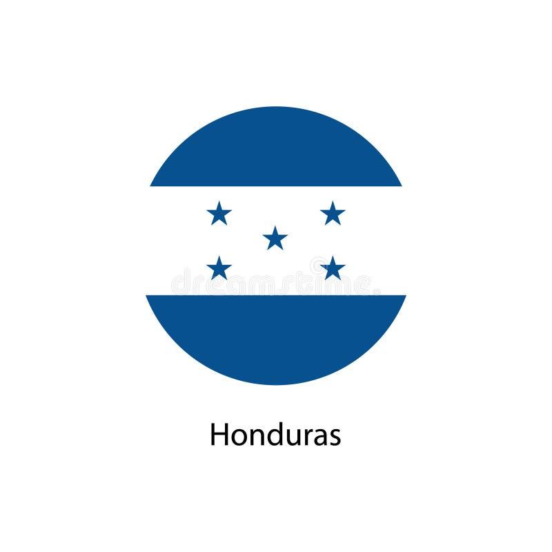 Icono redondo del vector de la bandera de Honduras stock de ilustración
