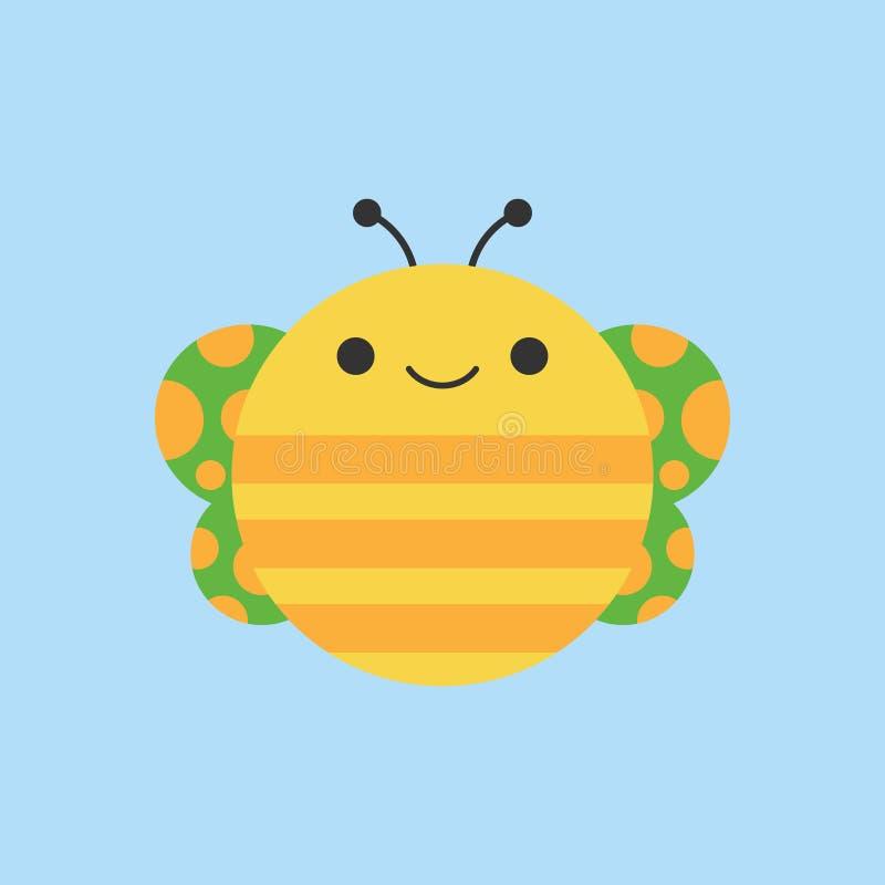 Icono redondo del vector de la mariposa linda libre illustration