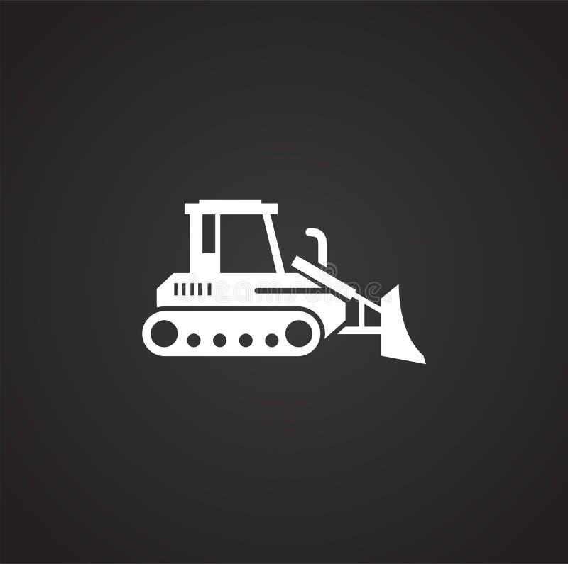 Icono relacionado del vehículo pesado en el fondo para el gráfico y el diseño web Ilustraci?n simple S?mbolo del concepto de Inte libre illustration