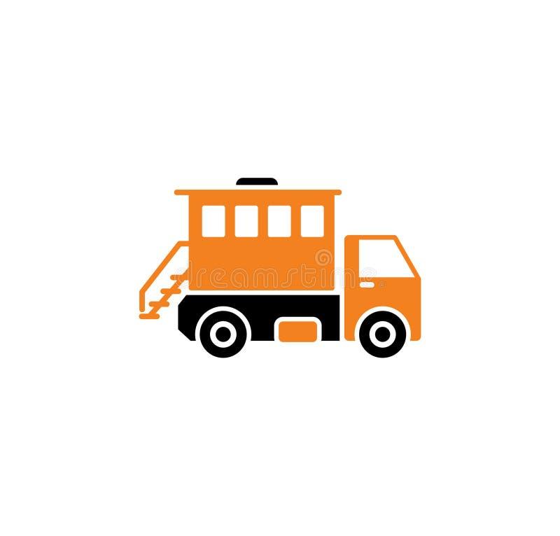 Icono relacionado del vehículo pesado en el fondo para el gráfico y el diseño web Ilustraci?n simple S?mbolo del concepto de Inte ilustración del vector