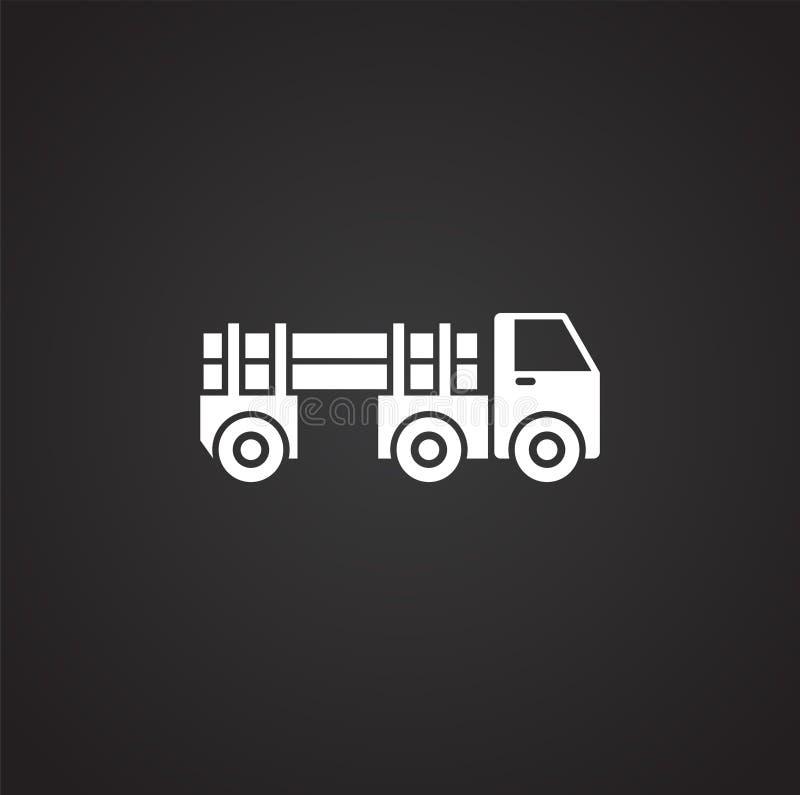 Icono relacionado del vehículo pesado en el fondo para el gráfico y el diseño web Ilustraci?n simple S?mbolo del concepto de Inte stock de ilustración