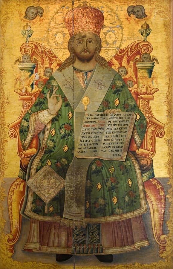 Icono religioso - monasterio de St Barnabas fotos de archivo libres de regalías
