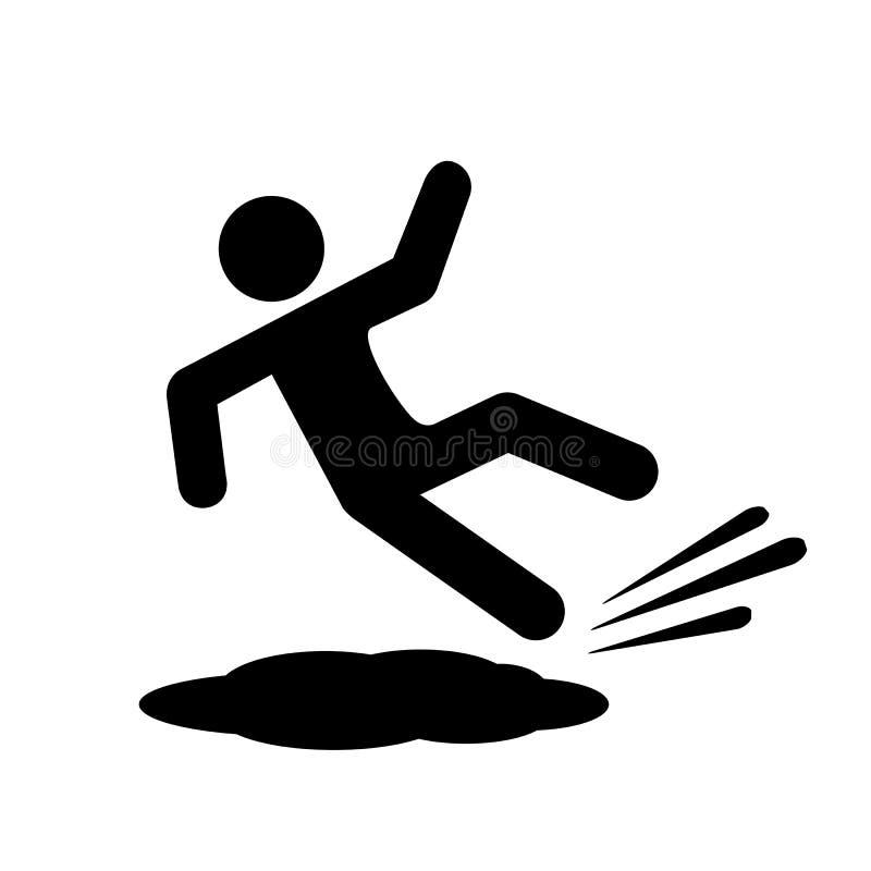 Icono resbaladizo del vector del piso libre illustration