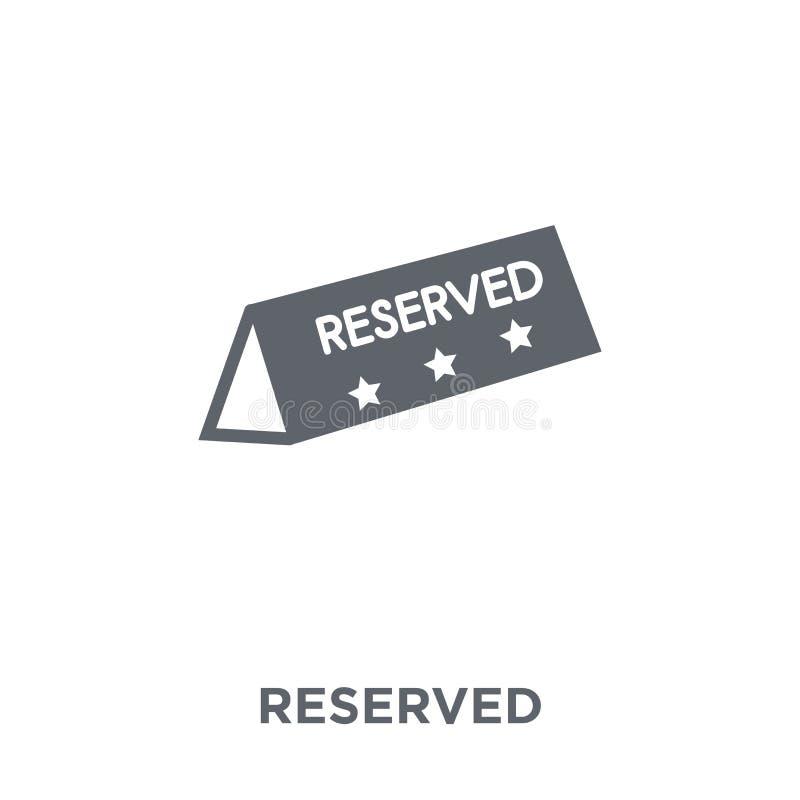 Icono reservado de la colección del restaurante stock de ilustración