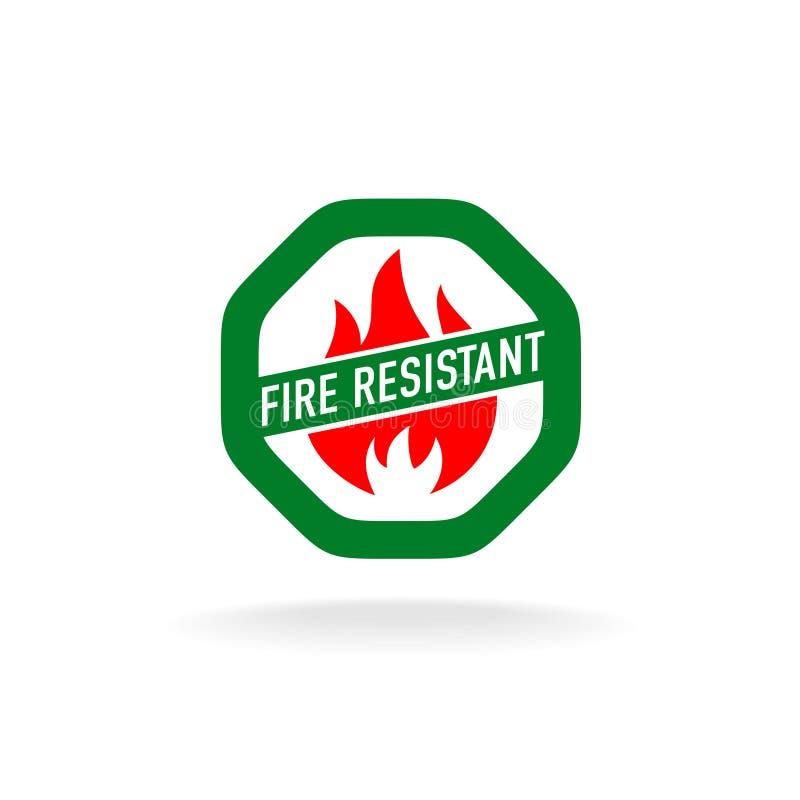 Icono resistente al fuego stock de ilustración