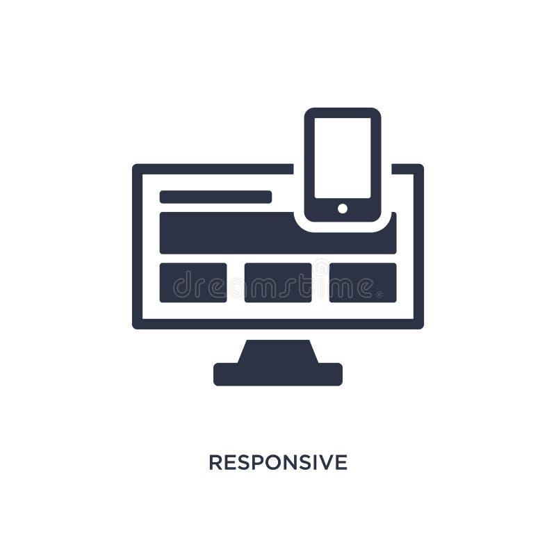 icono responsivo en el fondo blanco Ejemplo simple del elemento del concepto de la estrategia ilustración del vector