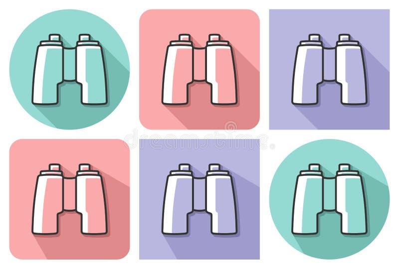 Icono resumido de prismáticos libre illustration
