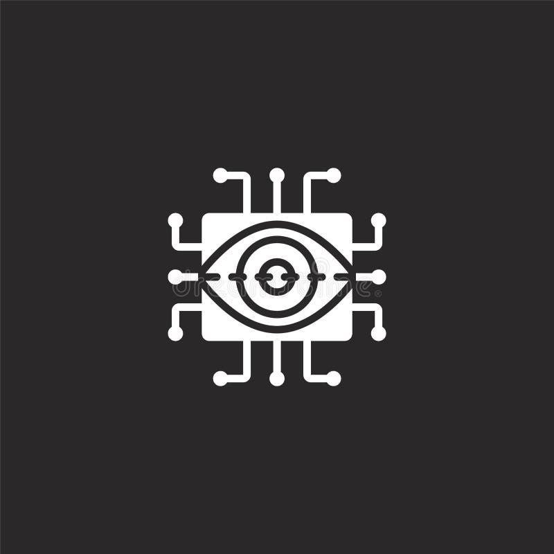 icono retiniano de la exploración Icono retiniano llenado de la exploración para el diseño y el móvil, desarrollo de la página we libre illustration