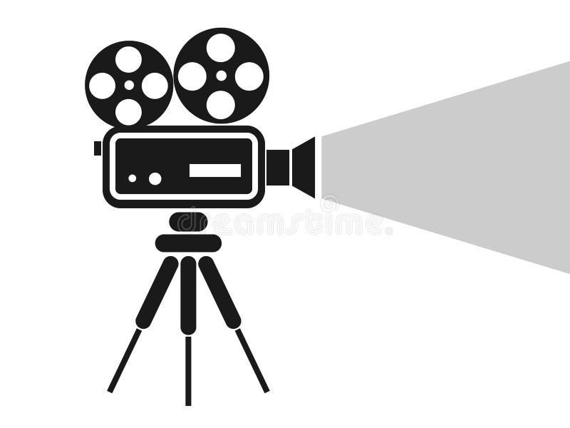 Icono Retro De La Cámara Del Cine Ilustración Del Vector
