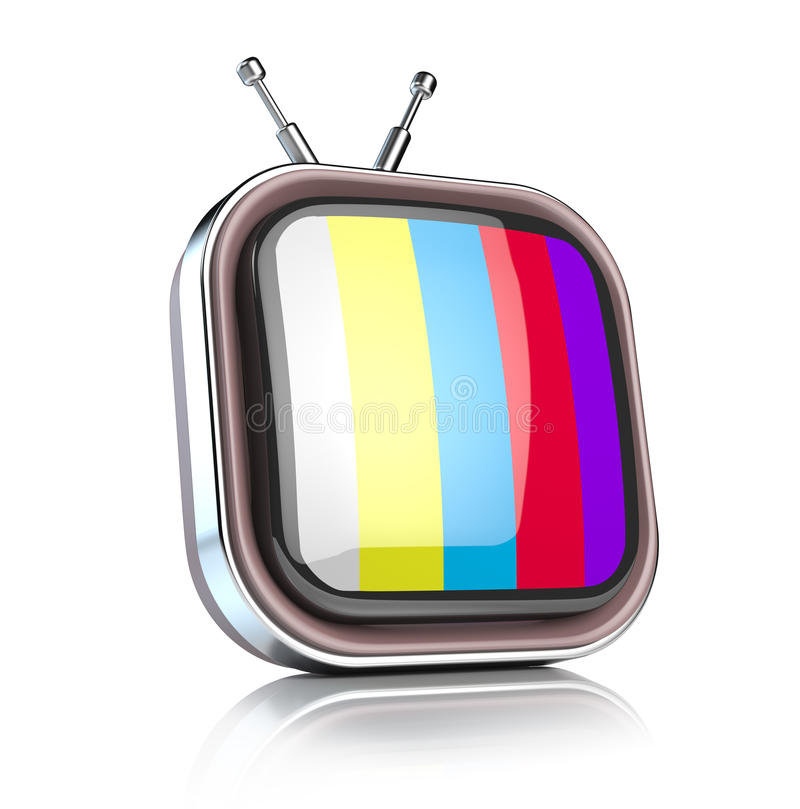 Icono retro de la TV ilustración del vector