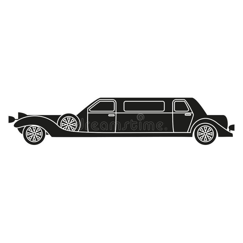 Icono retro del coche ilustración del vector