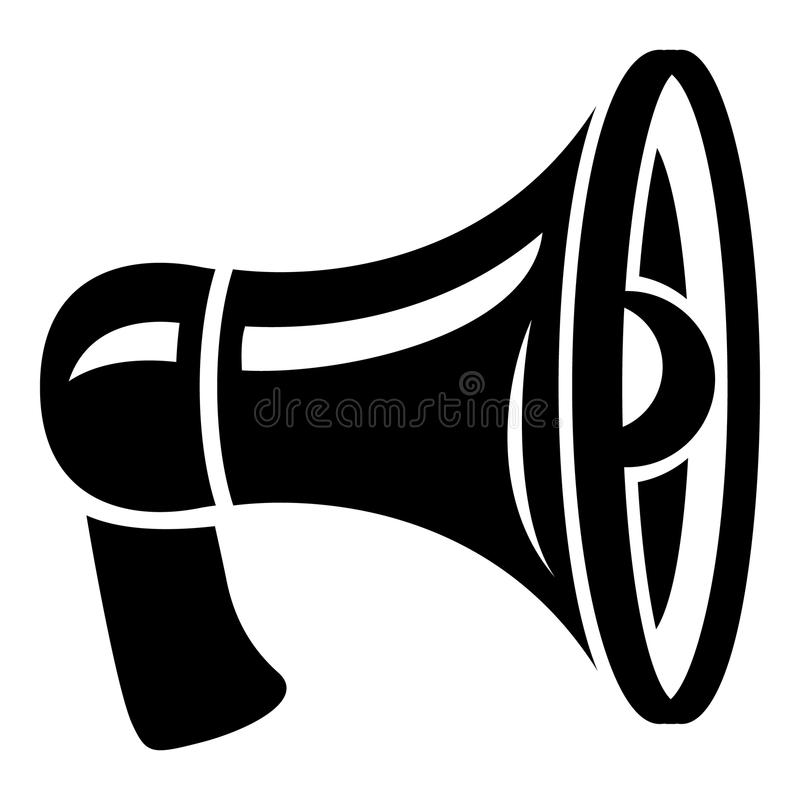 Icono retro del megáfono, estilo simple libre illustration