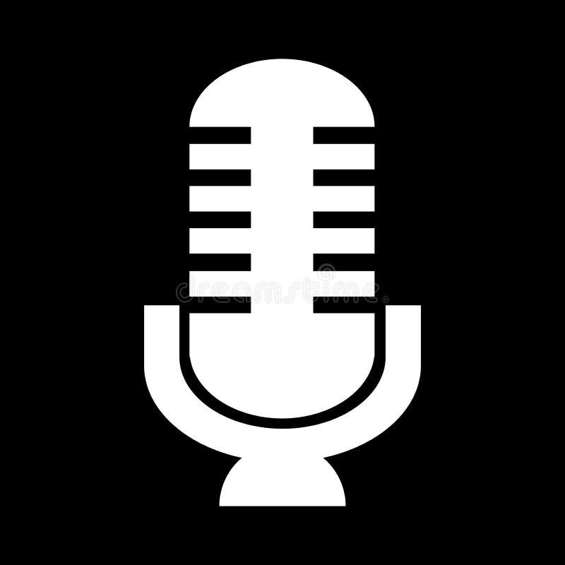 Icono retro del micrófono ilustración del vector