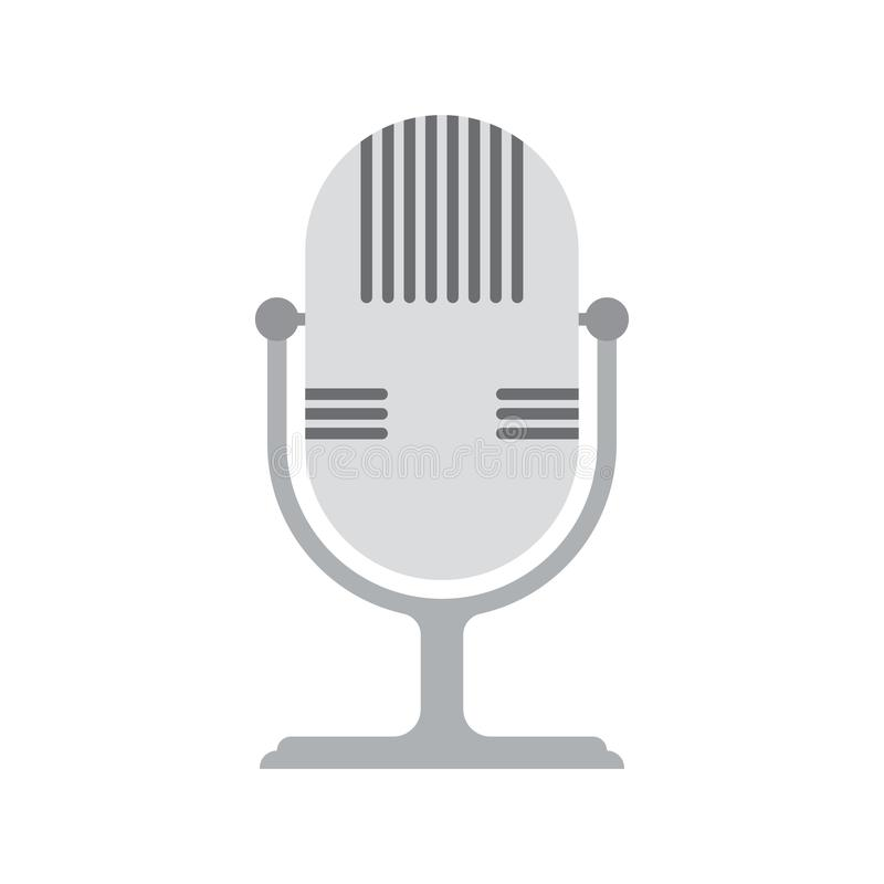 Icono retro del micrófono libre illustration