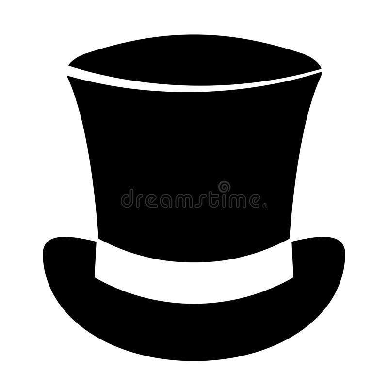 Icono retro del vector del sombrero de copa ilustración del vector