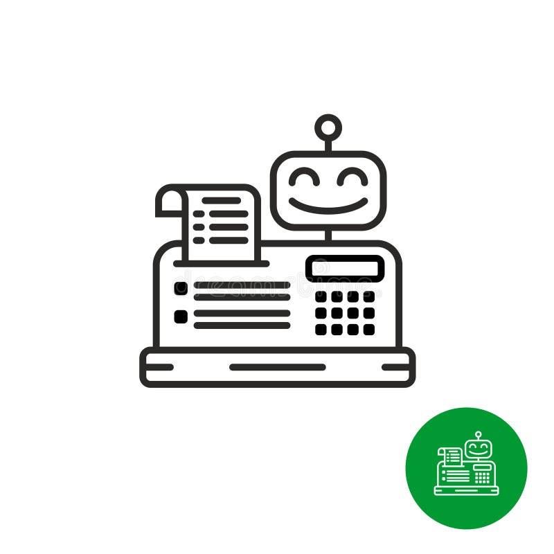 Icono robótico de la caja registradora stock de ilustración