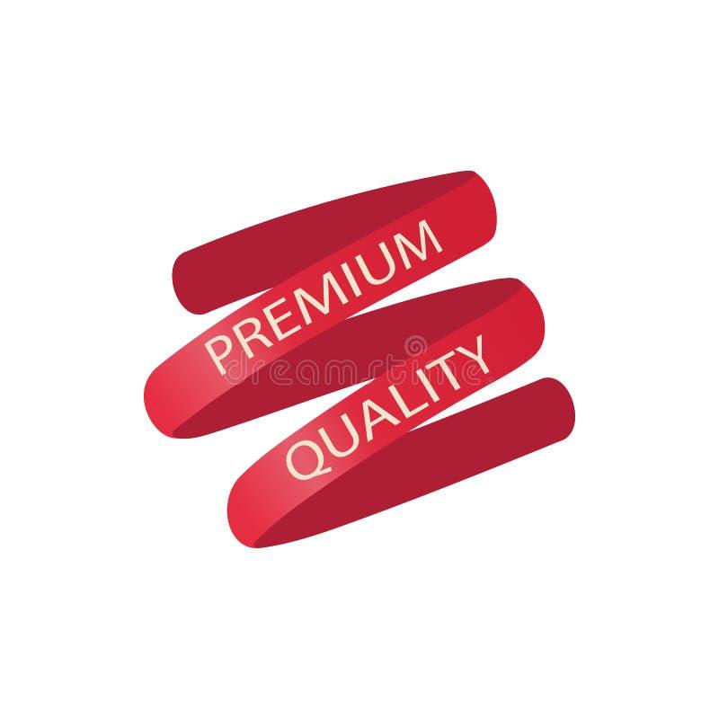 Icono rojo de la cinta de la calidad superior, estilo de la historieta stock de ilustración