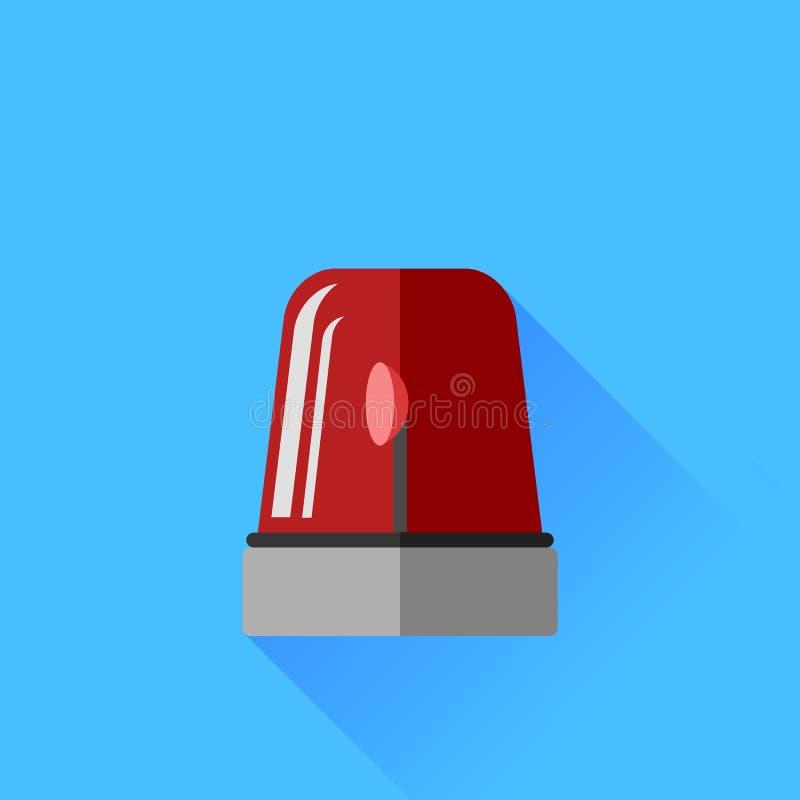 Icono rojo de la sirena ilustración del vector