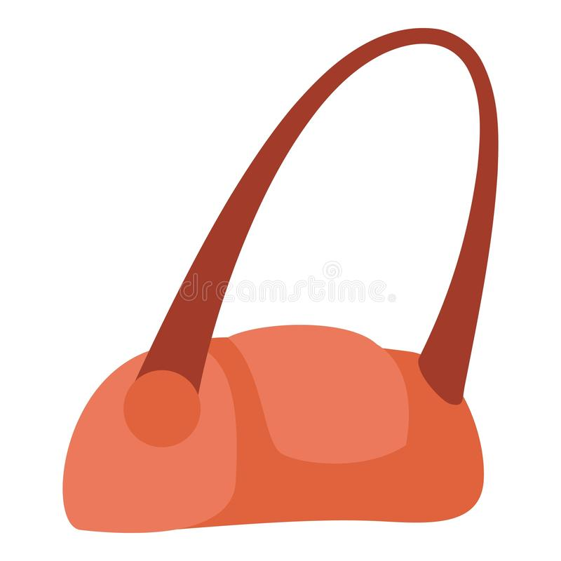 Icono rojo del bolso, estilo plano libre illustration