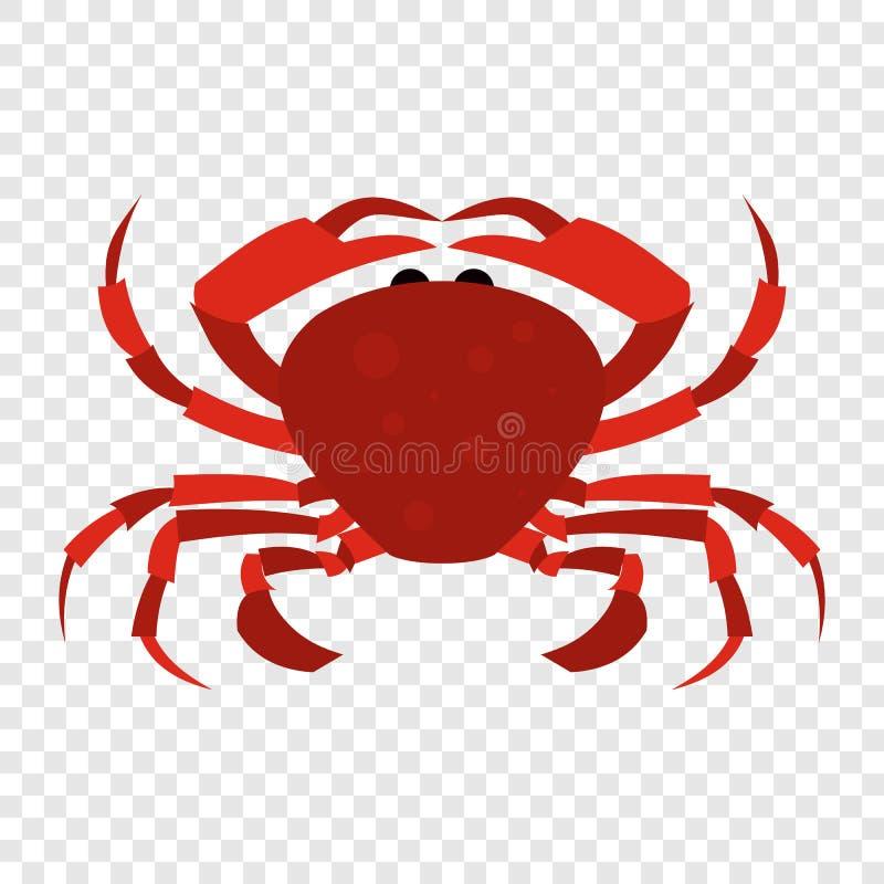 Icono rojo del cangrejo ilustración del vector