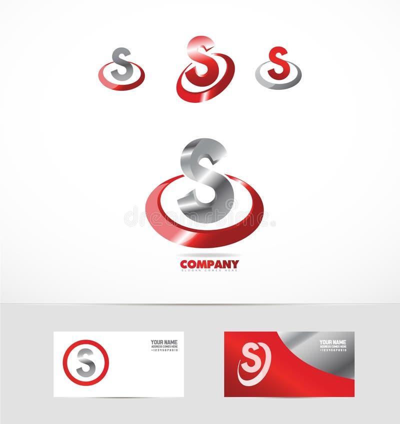 Icono rojo del logotipo del metal de la letra S libre illustration