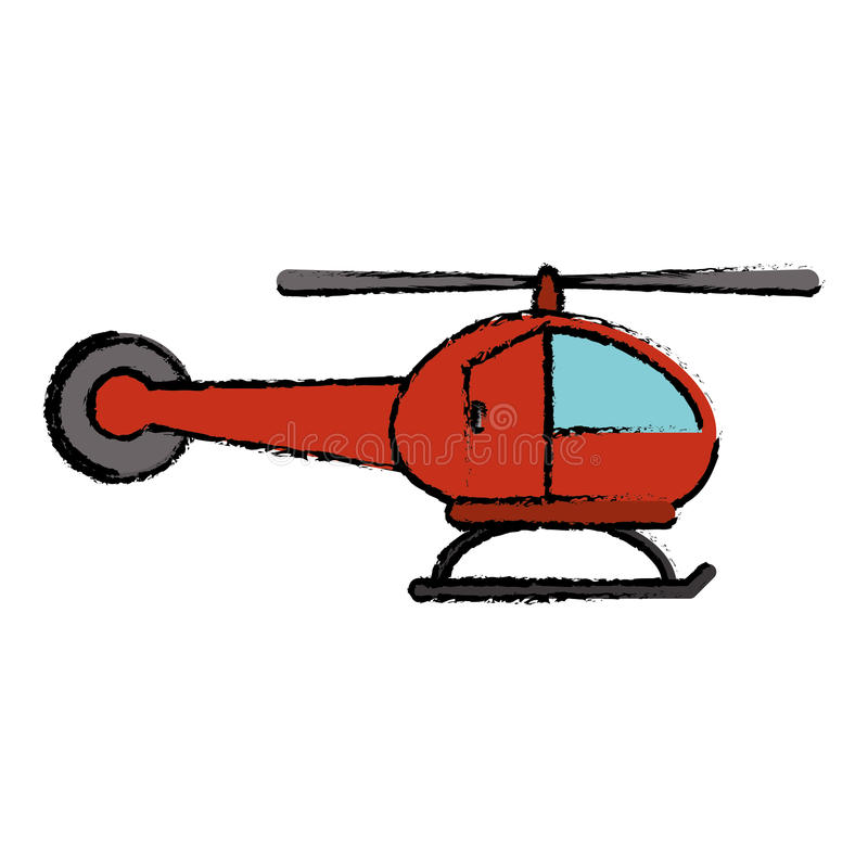 icono rojo del vuelo del transporte del helicóptero libre illustration