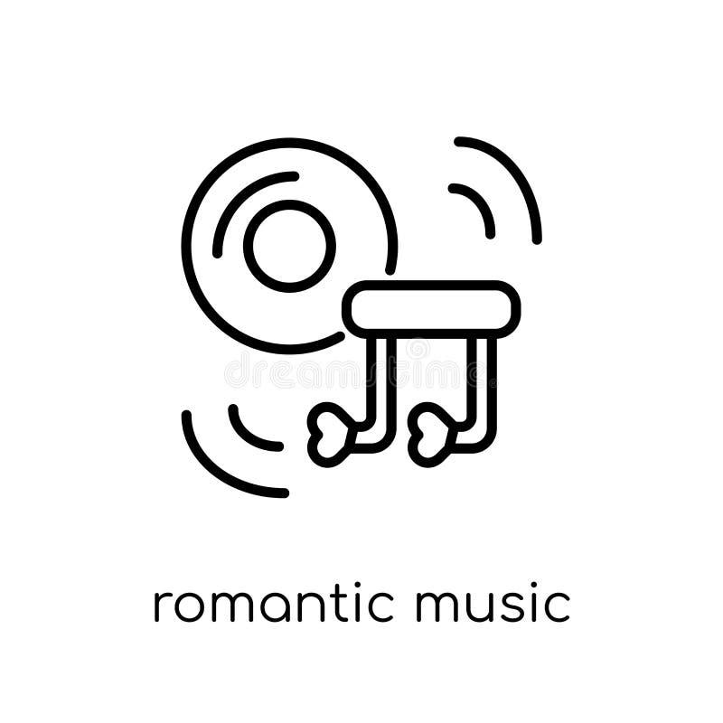 Icono romántico de la música de la colección de la boda y del amor stock de ilustración