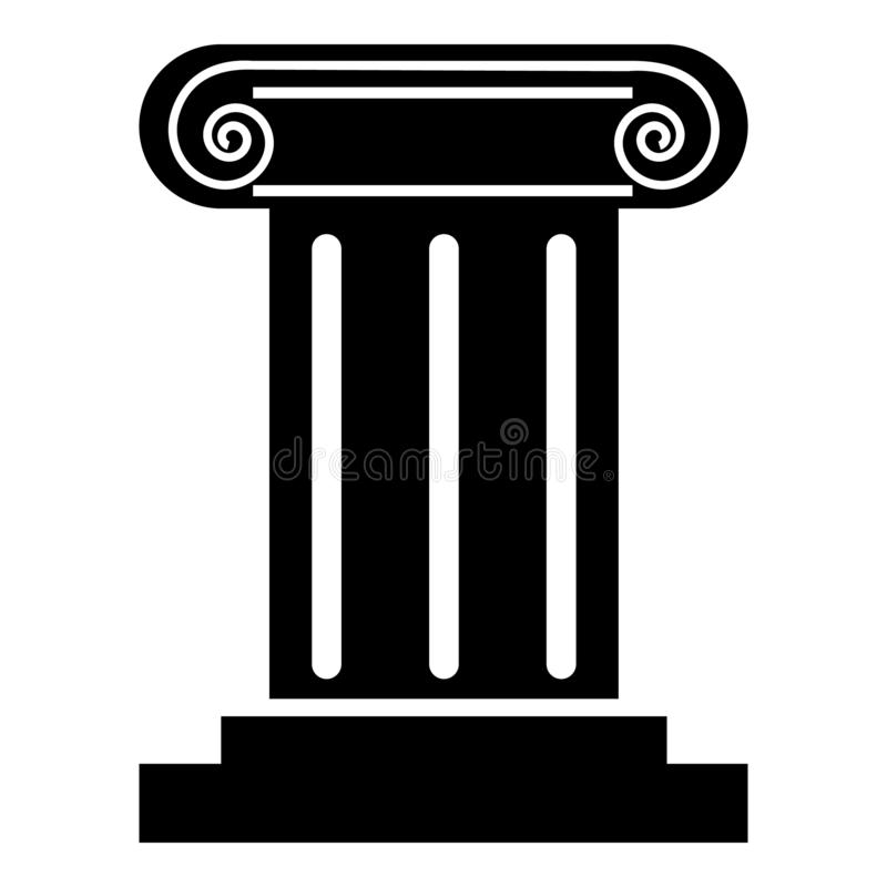 Icono romano de la columna, estilo simple libre illustration