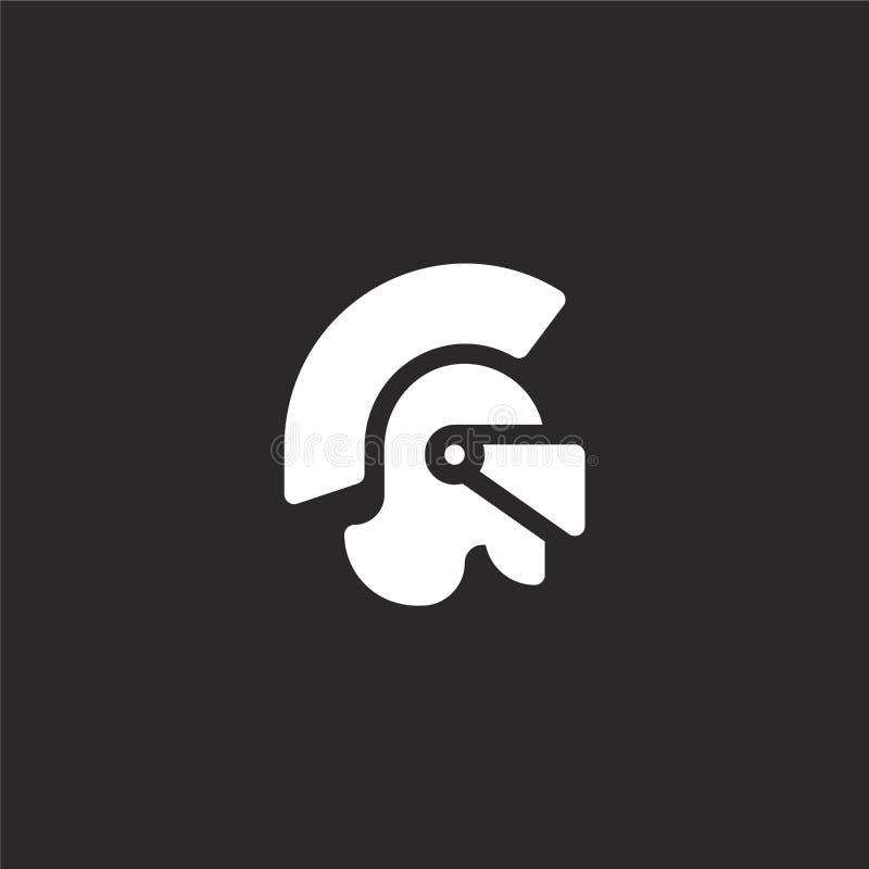 Icono romano del casco Icono romano llenado del casco para el diseño y el móvil, desarrollo de la página web del app icono romano stock de ilustración