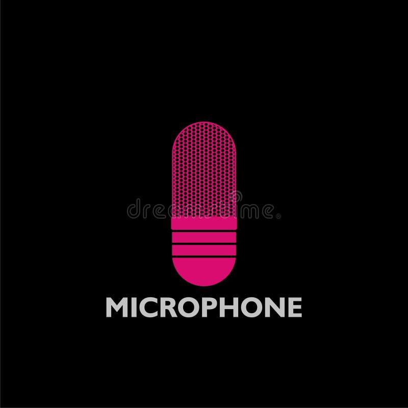 Icono rosado del logotipo del micr?fono libre illustration