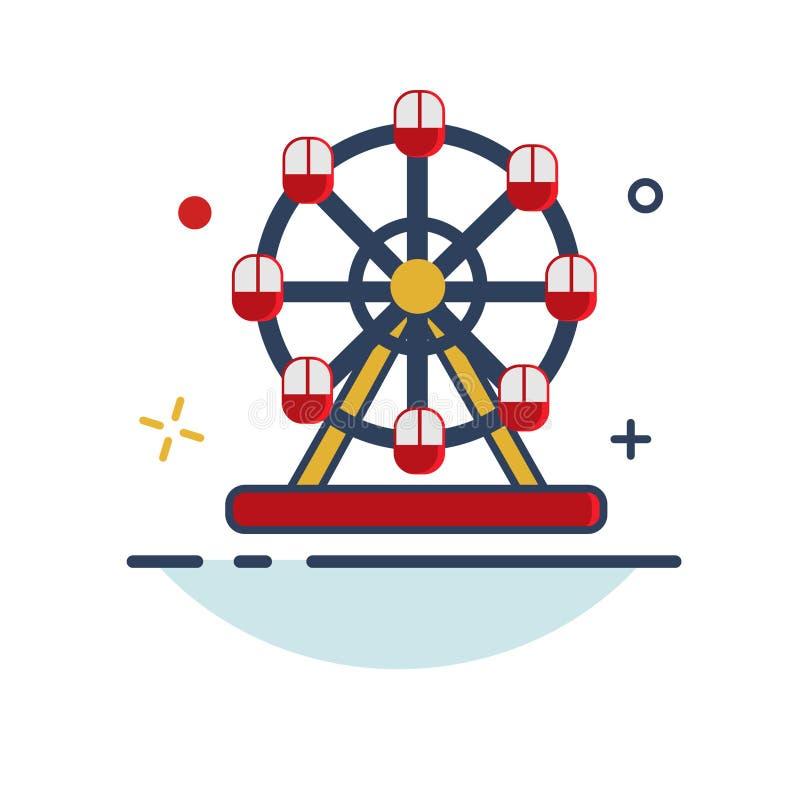 Icono rotatorio de la rueda - con estilo llenado esquema stock de ilustración