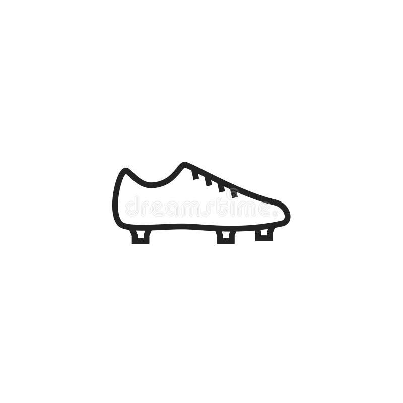 Icono, símbolo o logotipo del vector de Oultine de las botas del fútbol stock de ilustración