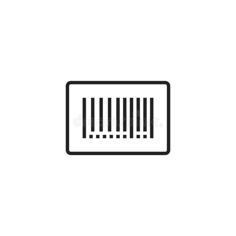 Icono, símbolo o logotipo del vector del esquema del código de barras stock de ilustración