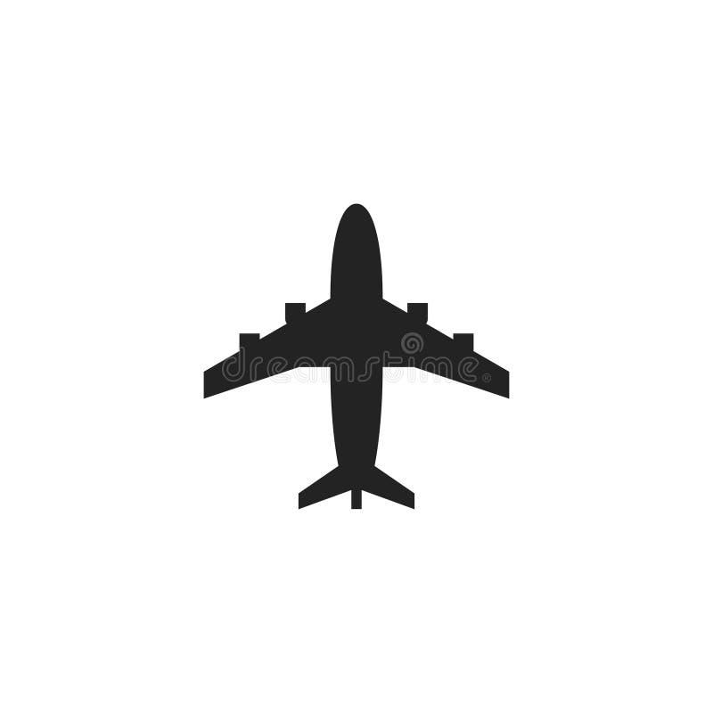 Icono, símbolo o logotipo del vector del Glyph de los aviones ilustración del vector