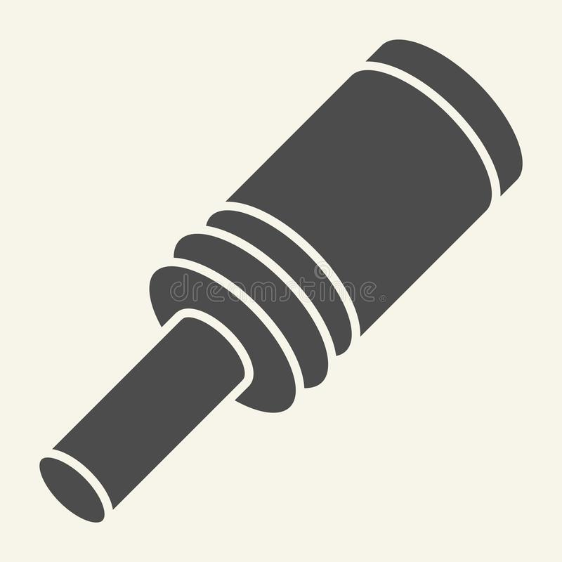 Icono sólido de la granada Estalle el ejemplo del vector aislado en blanco Diseño del estilo del glyph de la bomba, diseñado para libre illustration