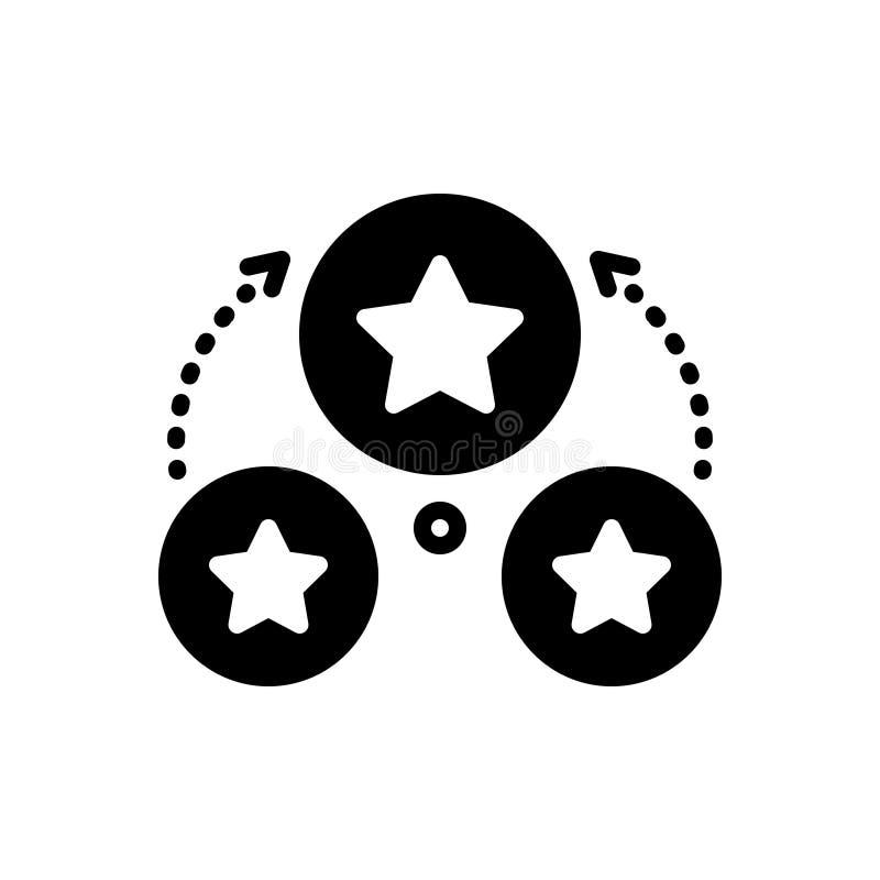 Icono sólido negro para Adapt, conformando y análogo stock de ilustración