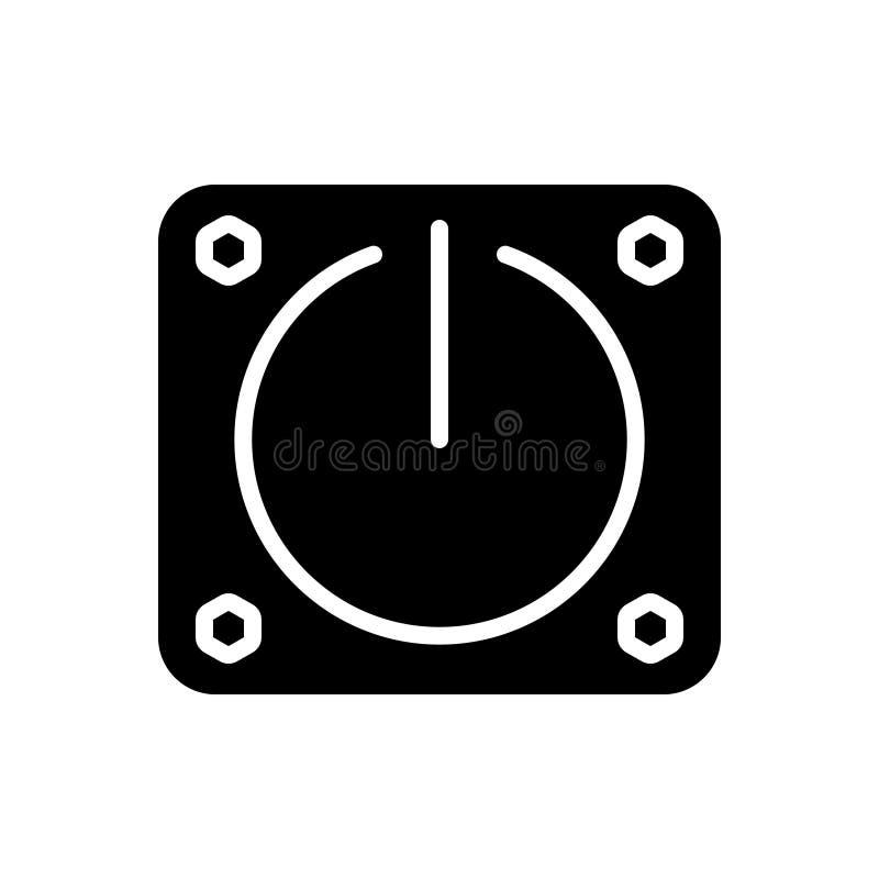 Icono sólido negro para apagado, en y poder libre illustration