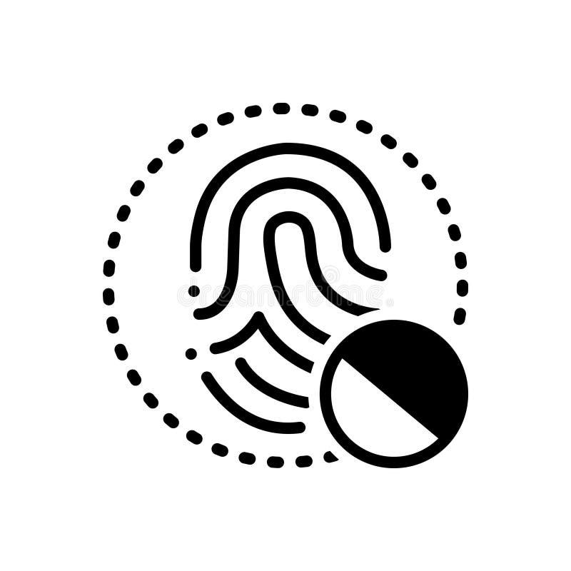 Icono sólido negro para el acceso denited, restringido y prohibido libre illustration