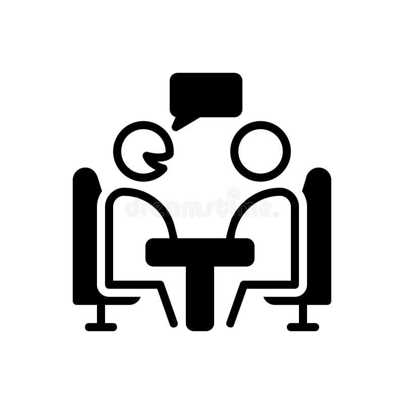 Icono sólido negro para el consultor, la opinión y el consejo libre illustration