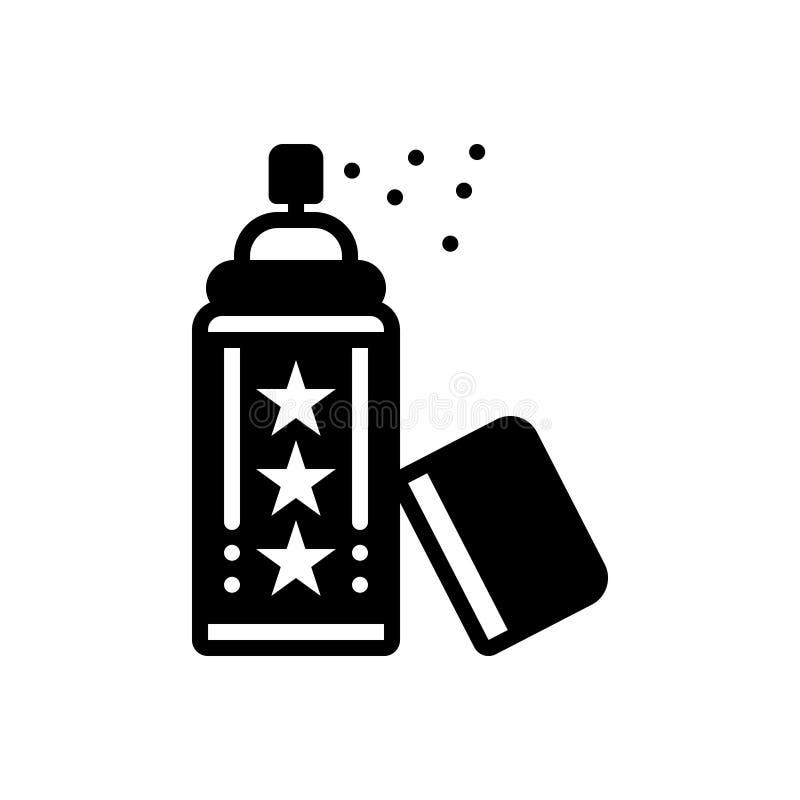 Icono sólido negro para el desodorante, el espray y el cosmético libre illustration