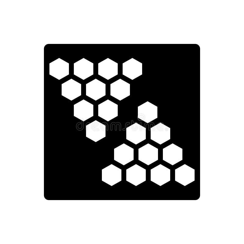 Icono sólido negro para el fondo, el terraplén y el modelo ilustración del vector