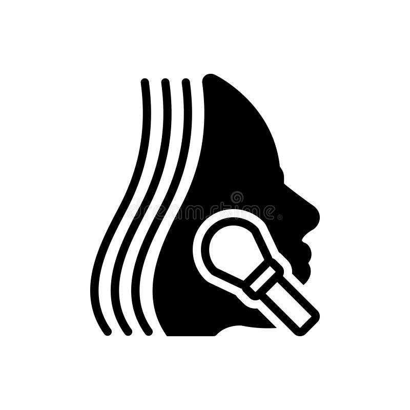 Icono sólido negro para el maquillaje, el cambio de imagen y el cosmético libre illustration